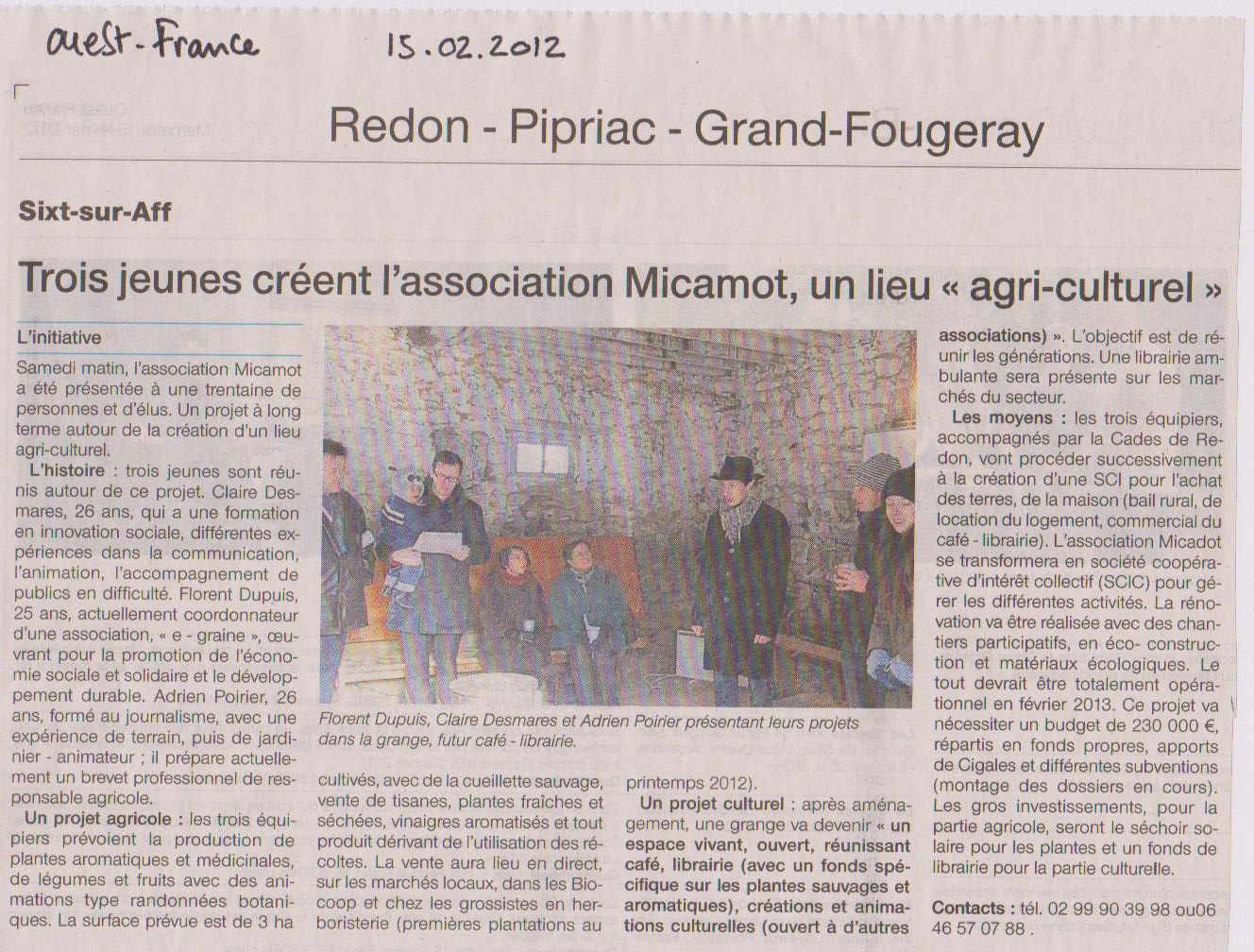 ouest france15.02.12